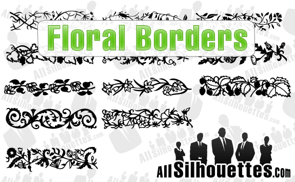 free vector Floral borders vector