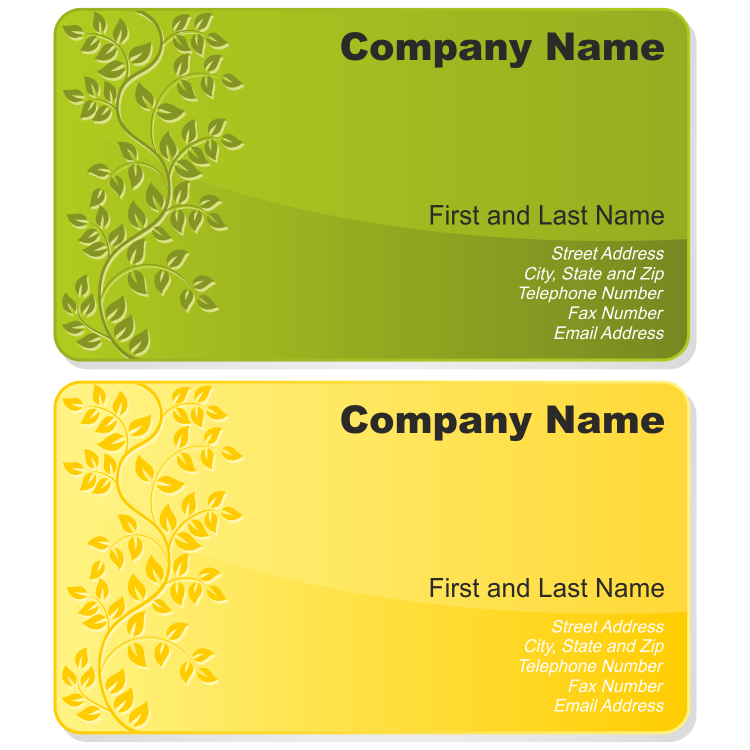 Floral business card set Free Vector / 4Vector
