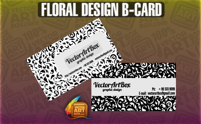 free vector Floral Design B-card