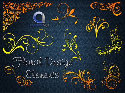 free vector Floral Design Elements