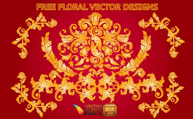 free vector Floral Designs