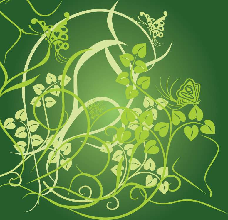 free vector Floral Green Background Vector