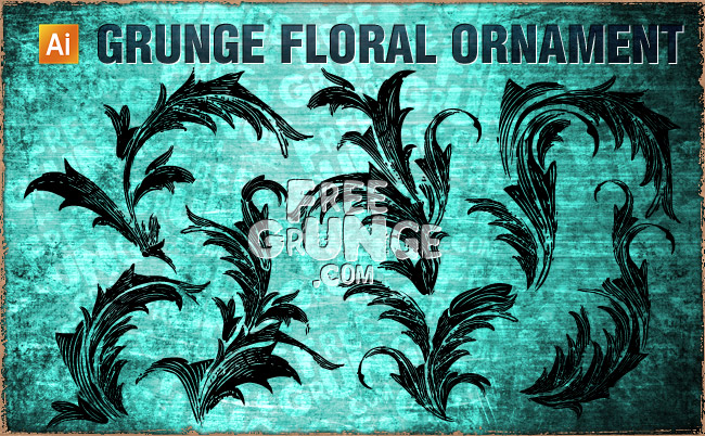 free vector Floral Grunge