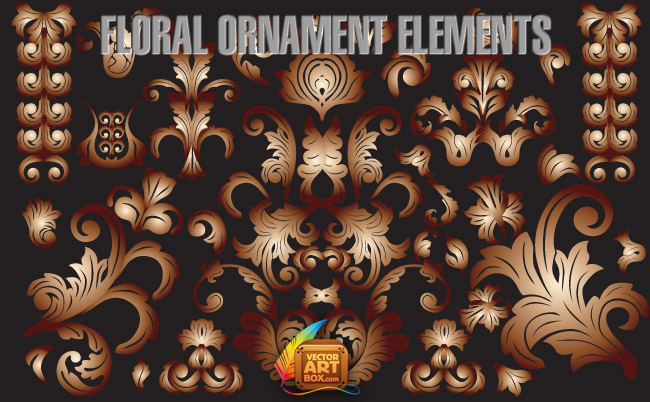 free vector Floral Ornament Elements