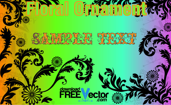 free vector Floral Ornament