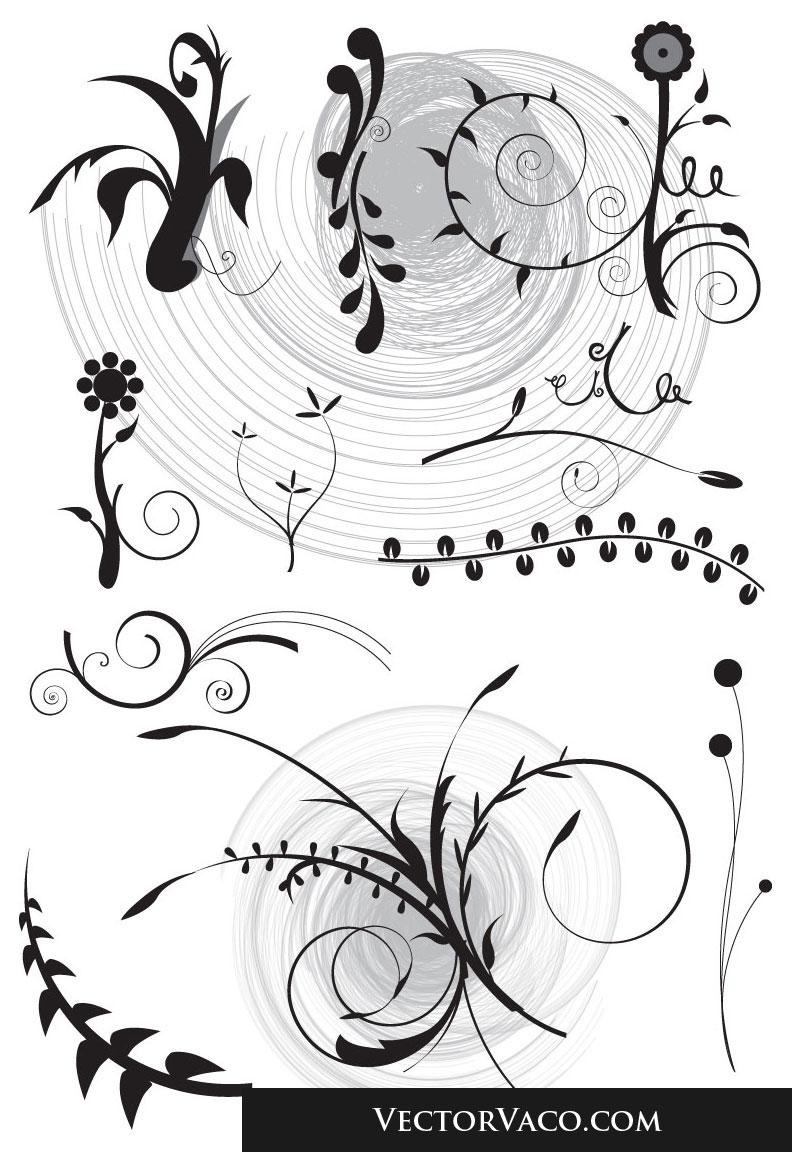 free vector Floral Set