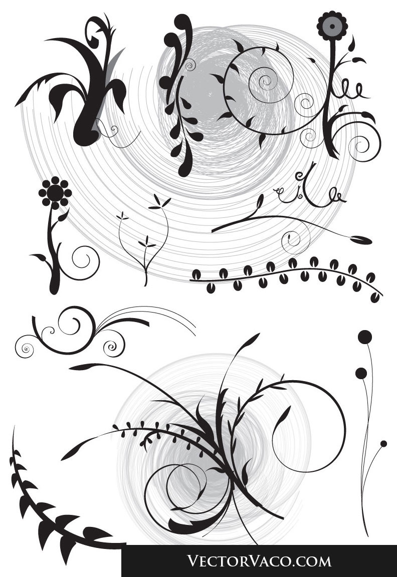 free vector Floral Set