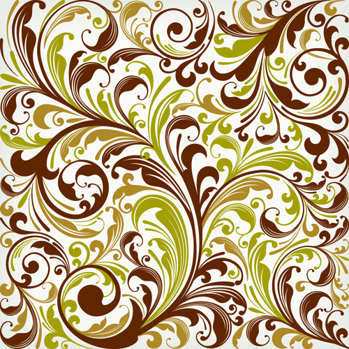 free vector Floral Swirl Vector Art