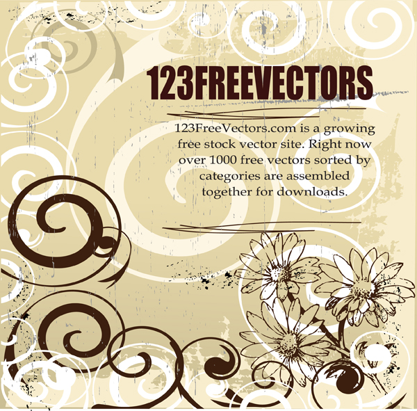 free vector Floral Vector Background