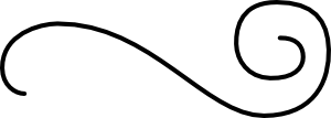 free vector Flourish One, Horizontal clip art