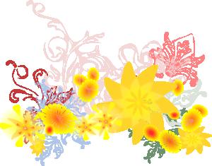 free vector Flourishing Flowers clip art