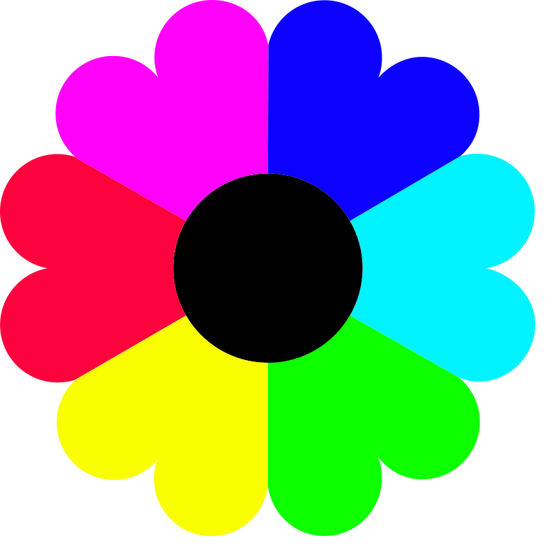 flower clip art color - photo #4