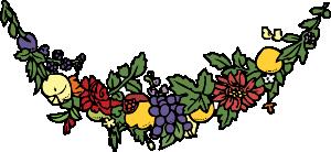 free vector Flower And Fruit Festoon clip art