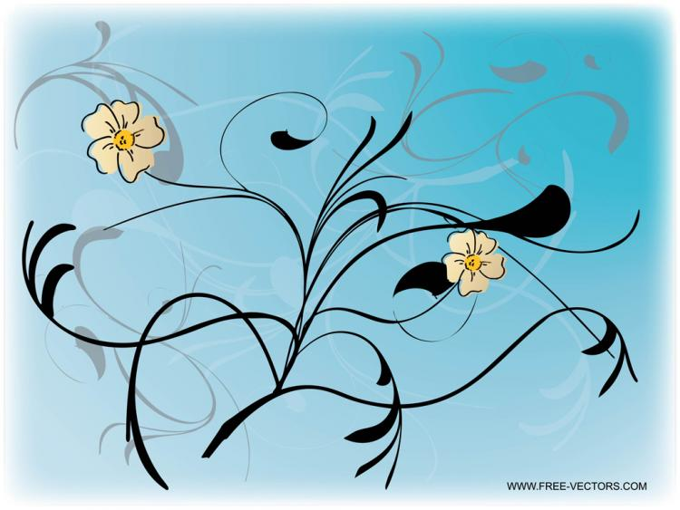 free vector Flower Art
