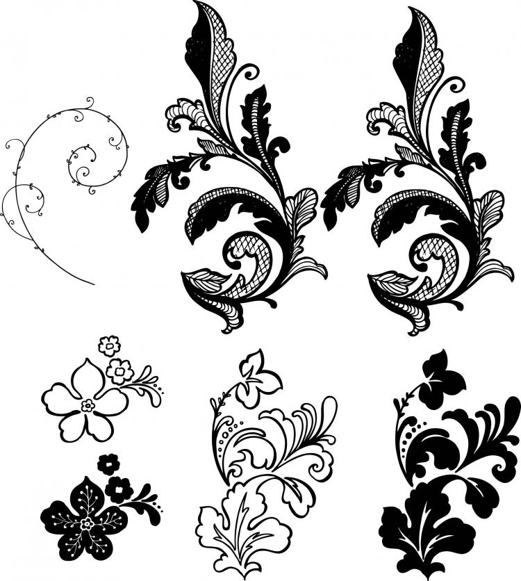 Flower Background Pattern Vector Side Free Vector 4vector