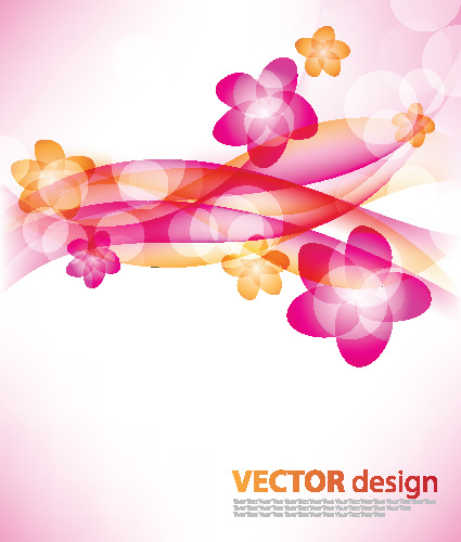 free vector Flower background vector 3