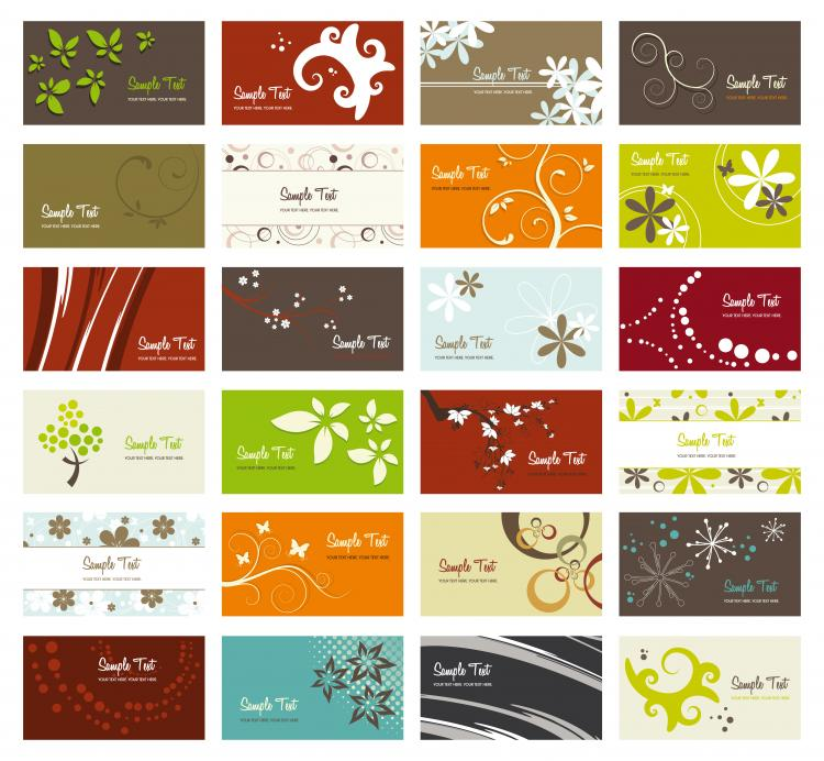 free vector Flower card background vector