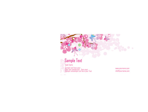 free vector Flower card template vector butterfly