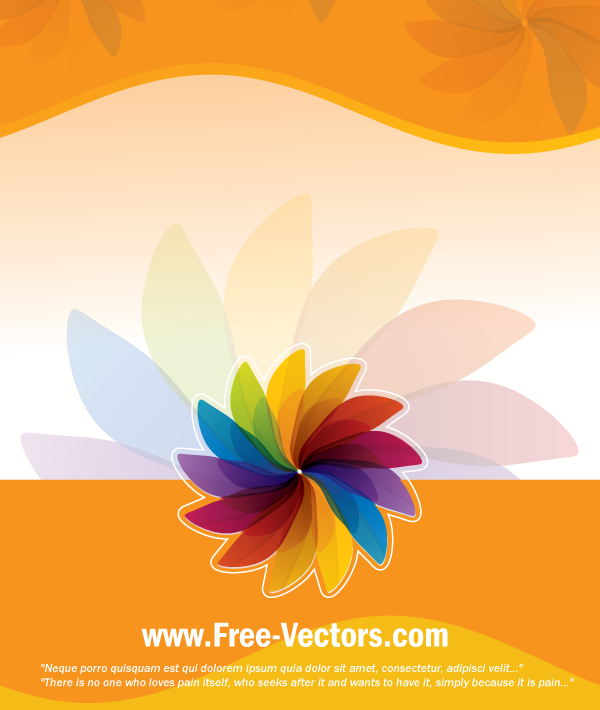 free vector Flower Colorful Vector Background