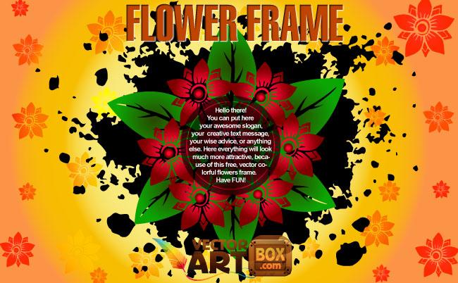 free vector Flower Frame