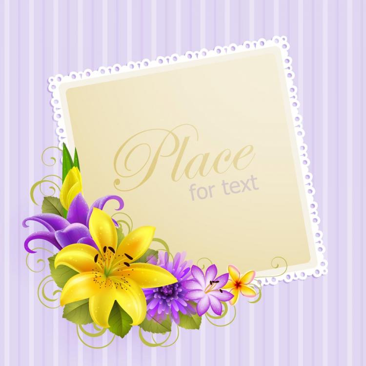 Vector free vectors download 4vector flower greeting cards 04 vector m4hsunfo