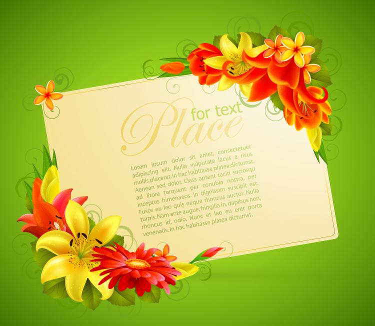 Flower greeting cards 05 vector free vector 4vector flower greeting cards 05 vector free vector kristyandbryce Image collections