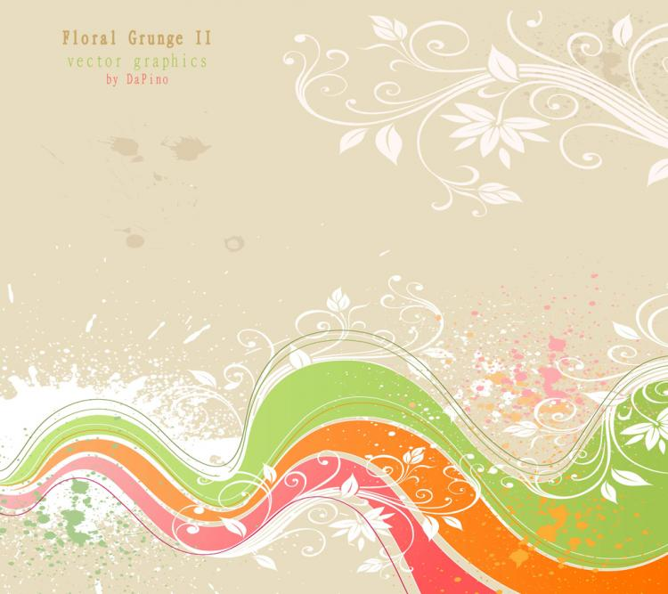 free vector Flower Grunge Background