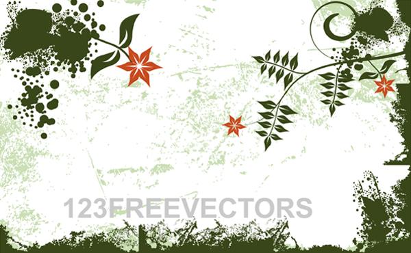 free vector Flower Grunge Background