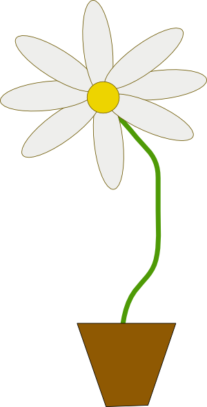 free vector Flower In A Pot clip art