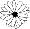 free vector Flower Outline clip art