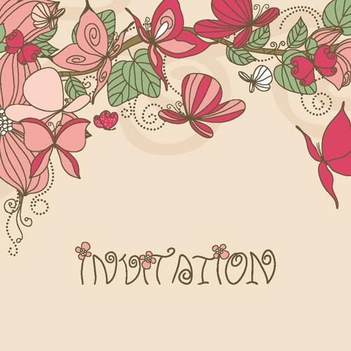 free vector Flower patterns 03 vector
