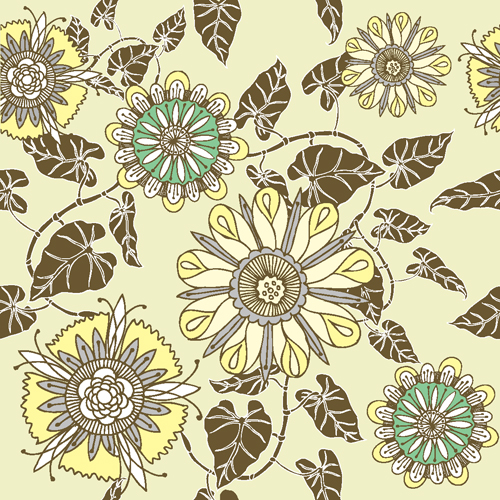 free vector Flower patterns 05 vector