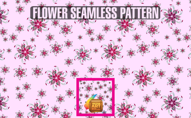free vector Flower Seamless Pattern