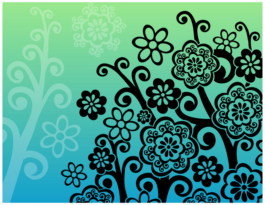 free vector Flower Tree Vector Graphic