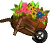 free vector Flower Wheelbarrel clip art