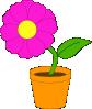 free vector Flowerandpot clip art