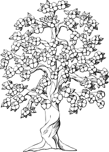 free vector Flowering Tree clip art
