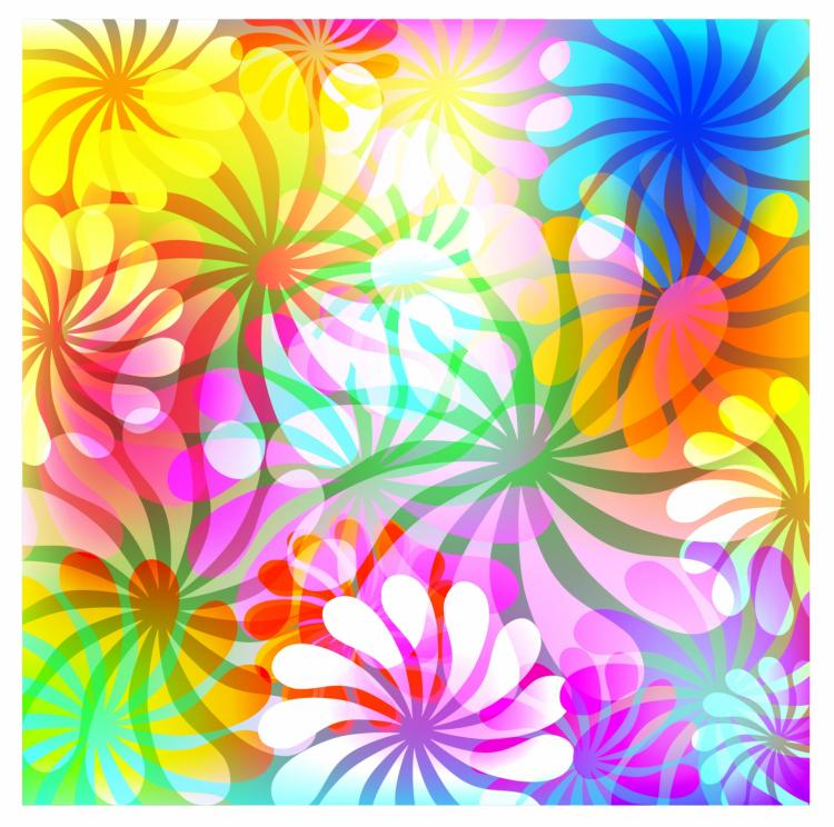 free vector Flowers abstract background