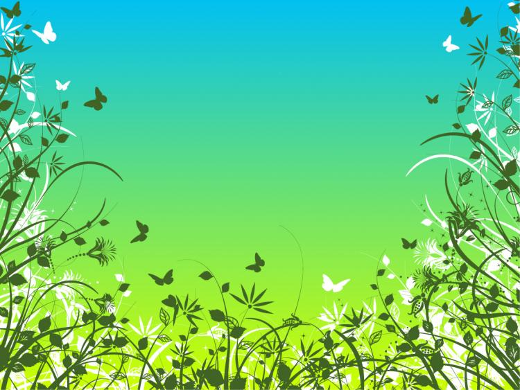 free vector Flowers and butterflies vector material