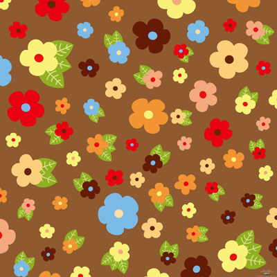 free vector Flowers and foliage background cartoon 1 vector