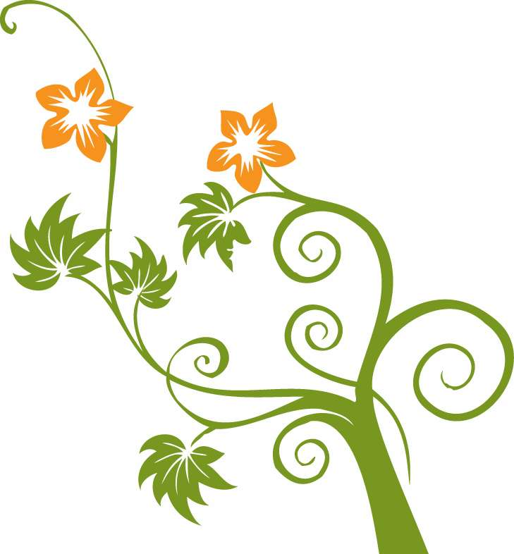 free vector Flowers and Swirls Vector Graphic
