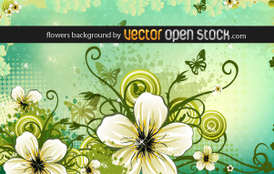 free vector Flowers Background 124468