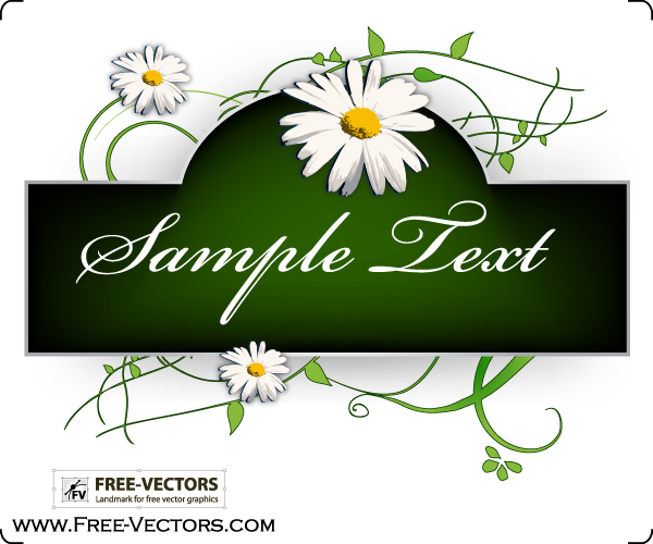 free vector Flowers Banner Vector Graphics