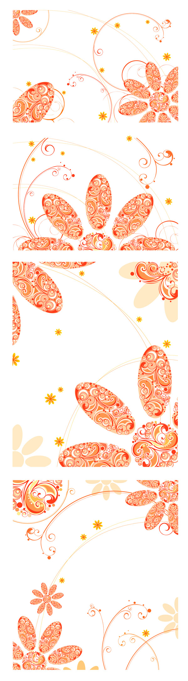 free vector Flowers composed of vector pattern
