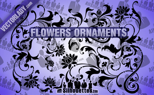 free vector Flowers Ornaments