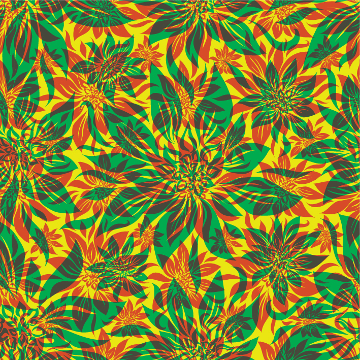 free vector Flowers shading patterns 03 vector