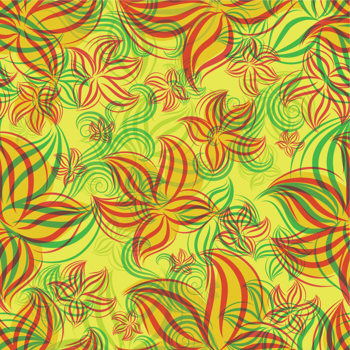 free vector Flowers shading patterns 05 vector