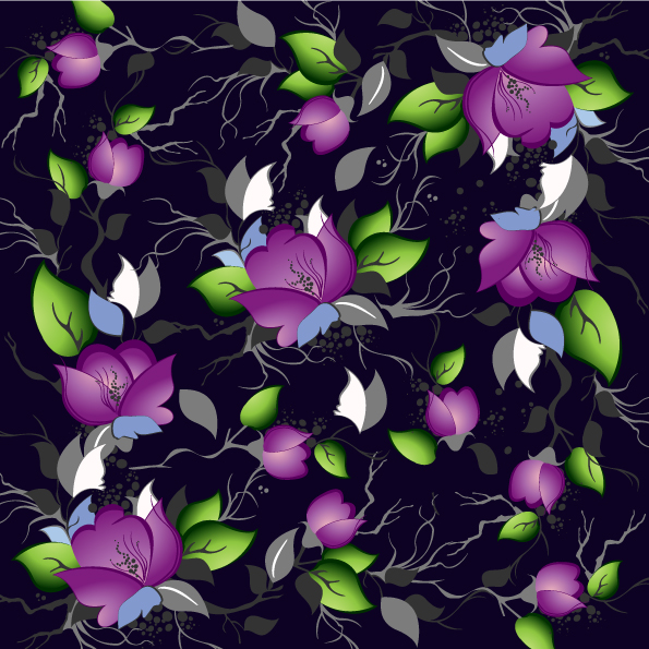 free vector Flowers shading vector 5