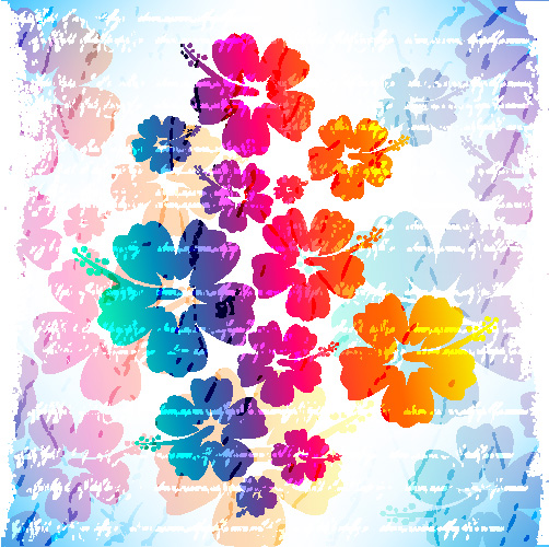 free vector Flowers vector background 1