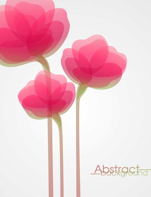 free vector Flowers vector fashion